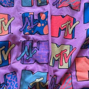 MTV - Bright MTV cropped tee
